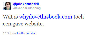 Alexander Klöpping Tweet