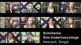 Scholieren Sint-Hubertuscollege (Neerpelt, België)